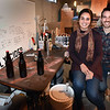 BRYAN EATON/Staff photo. Emily Tassinari and Caleb Noel started their Saintly Cider business in his parents' Rowley home's basement.