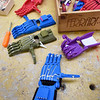 BRYAN EATON/Staff photo. 3D laser hands made by Nock Middle School students in Technology and Engineering class.