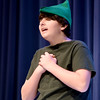 JIM VAIKNORAS/Staff photo Wally Ziehler jr. as the Narrator rehearses for the Triton Middle School production of Shrek Jr. Show times are Saturday March 11, at 3pm and 7PM at the Triton high school auditorium.