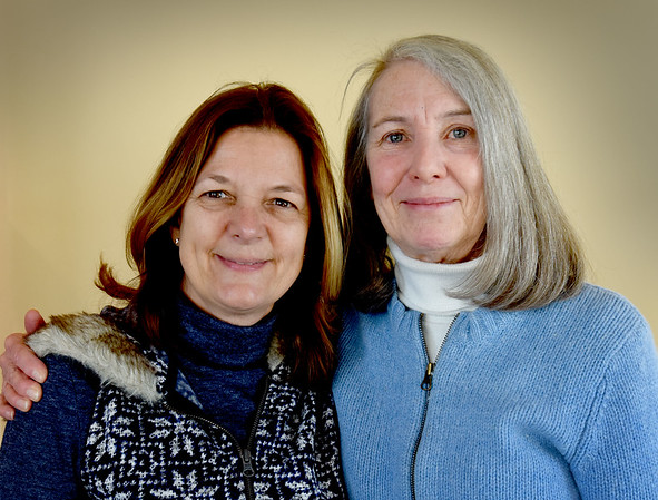 BRYAN EATON/Staff photo. Members of Pelican Kim Keene, left, and Elizabeth McCarthy.