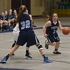 JIM VAIKNORAS/Staff photo  Triton's Menanie Primpas gets a pick from teammate Alexandra Kennedy during the Viking's game at Belmont Friday night.