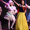 "BRYAN EATON/Staff photo. Annie Silliker as Little Miss Muffet, left, and Elise Blanchet as Snow White dance to ""The Girls in Storyville Won't Sit Still and Look Pretty."""