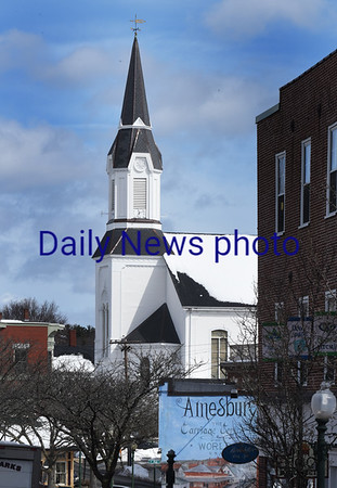 BRYAN EATON/Staff photo. Amesbury's Market Street Baptist Church.