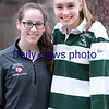 BRYAN EATON/Staff photo. Schuyler Snay, left, and Saige Tudisco.
