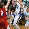 JIM VAIKNORAS/Staff photo  Pentucket's Spencer Pacy pulls up for a jumper against Amesbury during their game at Pentucket Wednesday night.