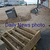 JIM VAIKNORAS/Staff photo Debris and sand at Salisbury Beach Center.