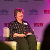 AMANDA SABGA/Staff photo<br /> <br /> Julie Ganong, co-owner and founder of Chococoa Baking Company and Cafe, speaks on stage at the Greater Haverhill Chamber of Commerce's 22nd annual Winning Opportunities for Women conference at Blue Ocean Music Hall in Salisbury. <br /> <br /> 3/30/17