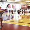 BRYAN EATON/Staff photo. Newburyport sports tryouts were underway Monday, here, girls lacrosse.