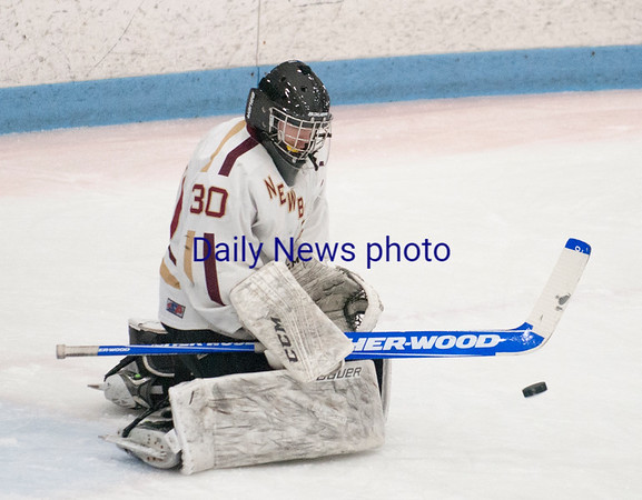 JIM VAIKNORAS/Staff photo Newburyport's Ken Hodge with a stick save against Austin Prep at Chelmsford Forum in Billerica Saturday.