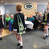 BRYAN EATON/Staff photo. Students from the Bracken School of Irish Stepdancing performed at the St. Patrick's Day Party at the Amesbury Senior Center on Thursday afternoon. After the performance the traditional corned beef and cabbage was served to those in attendence.