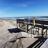 BRYAN EATON/Staff photo. Erosion from recent storms have exposed the supporting structure of a boardwalk which had been covered by sand on Plum Island, near Sandy Point.