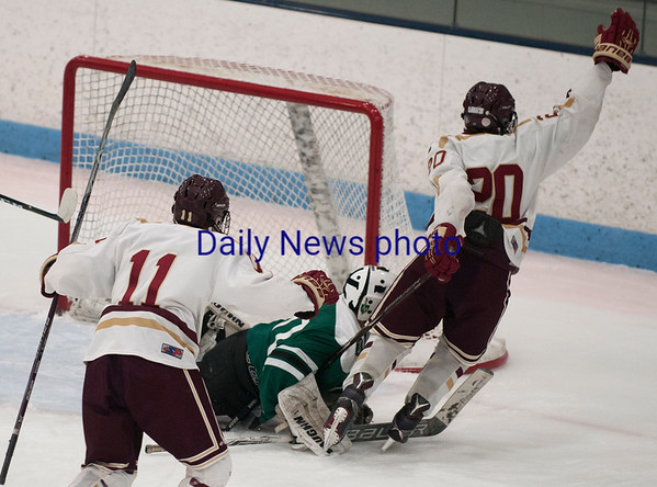 JIM VAIKNORAS/Staff photo Newburyport's Jacob Grossi-Hogg scores against Austin Prep at Chelmsford Forum in Billerica Saturday.
