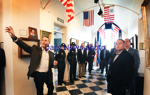 BRYAN EATON/Staff photo. Michael Mroz, left, gives a tour to U.S. customs officials last fall.