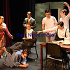 BRYAN EATON/Staff photo. Newburyport High students practice the scene Happy Birthday Akron on their production of Gypsy.