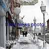 BRYAN EATON/Staff photo. With businesses closed due to the power outage, downtown Newburyport was pretty quiet.