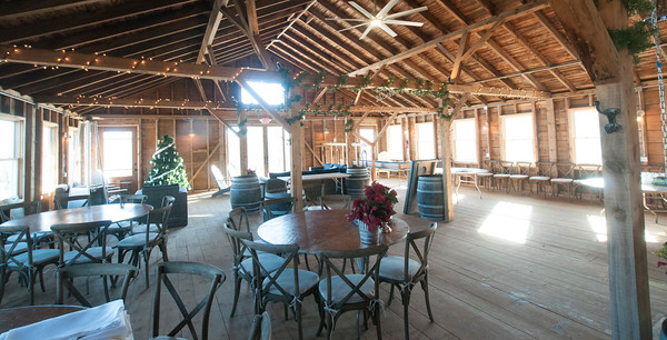 JIM VAIKNORAS/Staff photo The interior of the Bradstreet Barn in Rowley.