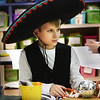 "BRYAN EATON/Staff photo. Tyler Brosch, 11, brings a little bit of Mexico to his fifth grade class at the Pine Grove School in Rowley on Tuesday wearing a sombrero. There is a theme each day during Read-a-Thon Fun Days this week since it's National Reading Month, and Tuesday it was ""Dress in Your Wackiest, Tackiest Outfit."""