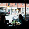 JIM VAIKNORAS/Staff photo Patron's enjoy breakfast at Moulton's on State Street in Newburyport Sunday morning. The eatery closed Sunday.