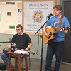 JIM VAIKNORAS/Staff photo Matt Morrison and Justin Laing of Southbound Outlaws perform on Local Pulse at their Daily News studio in Newburyport Saturday.