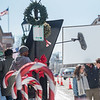 AMANDA SABGA/Staff photo<br /> <br /> Actors Liliana Tandon and Charles Hittinger perform a scene as a Hallmark movie titled A Ring for Christmas is filmed on State Street in Newburyport.<br /> <br /> 3/5/19