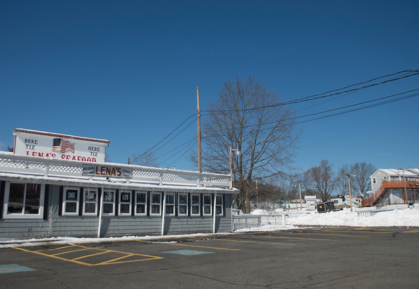 JIM VAIKNORAS/Staff photo Location behind Lena's Seafood in Salisbury where a proposed billboard will be located.
