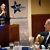 BRYAN EATON/Staff Photo. State Sen. Diana DiZoglio speaks at the Salisbury Chamber of Commerce Legislative Dinner on Tuesday night at the Sylvan Grill.