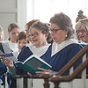 "JIM VAIKNORAS/Staff photo The choir sings ""Blue Boat Home"" at the Installation of Reverend Rebecca Michaela Bryan as the 16th settled minister of the First Religious Unitarian Universalist Church in Newburyport Sunday."