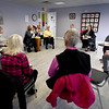 BRYAN EATON/Staff photo.  Nancy VanBenschoten, right, leads a drum class at the Salisbury Council on Aging's Hilton Senior Center.