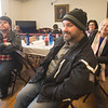 "JIM VAIKNORAS/Staff photo Chris Cameron of Salisbury waits in  Mason Hall in Newburyport. He is an extra in the  ""A Ring for Christmas"" movie being is filmed there Sunday."