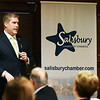 BRYAN EATON/Staff Photo. State Rep. James Kelcourse speaks at the Salisbury Chamber of Commerce Legislative Dinner on Tuesday night at the Sylvan Grill.