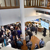 BRYAN EATON/Staff photo. Newburyport Bank officers and corporators along with employees check out the refurbished lobby at the main office on State Street after the business of their annual meeting was completed.
