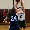 CARL RUSSO/staff photo. Pentucket's Angelina Hurley takes the three point jump shot. pointdrives to the hoop. Pentucket vs. Swampscott girls basketball in the Division 2 North semifinals. 3/5/2019