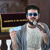 JIM VAIKNORAS/Staff photo Rabbi Benjamin Resnick dressed as The Dude from the Big Lebowski announces the winners of the costume contest at a Purim Celebration at the Congregation Ahavas Achim in Newburyport Sunday morning. The celebration included games and prizes, crafts, face painting and a costume contest.