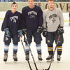 BRYAN EATON/Staff photo. Triton hockey players James Tatro, Brad Killion and Tyler Godfrey.