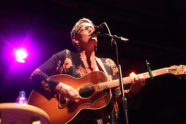 Liz Frame plays originals during the Actors Studio's third annual Women's HerStory fundraiser Sunday, March 1, 2020 at the Firehouse Center for the Arts. The event, to kick off HerStory Month, featured local female musicians, dancers and comics.<br /> <br /> Photo By Nicole Goodhue Boyd