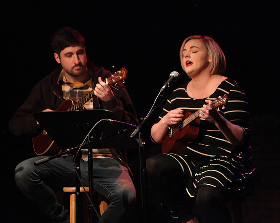 Miranda Launsby, sings as Matt Roy accompanies  during the Actors Studio's third annual Women's HerStory Sunday March 1, 2020 at the Firehouse Center for the Arts. The event featured local female musicians, dancers and comics.  Photo By Nicole Goodhue Boyd