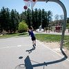 JIM VAIKNORAS/Staff photo Jacob Boothroyd plays ball at Amesbury Park on a sunny warm Wednesday afternoon.