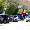 JIM VAIKNORAS/Staff photo Traffic  and parked cars on Merrimac Street near Pioneer park in Newburyport.