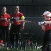BRYAN EATON/Staff Photo. Amesbury's Emily Robinson bats a single.