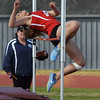 Newburyport high in track and field action against Amesbury high and Masconomet Regional Wednesday afternoon.