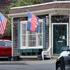 BRYAN EATON/Staff Photo. The Razor's Edge barbershop on Merrimac Street in Newburyport.