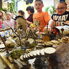 BRYAN EATON/Staff photo. Several classes at Salisbury Elementary School, including Kim Bissell's class here, created Fairy Gnome houses and villages they finished up last Friday. They were to part of the Fairy Gnome Discovery Walk this past weekend at Pettengill Farm, a fundraiser for the Salisbury and Newbury PTA's.