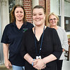BRYAN EATON/Staff photo. From left, Traci Perkins, Marcie Dow and Diane Wigmore, senior director of the Emergency Department at Anna Jaques Hospital and stroke counselor. Dow encouraged Perkins to go to the hospital when she suspected she was having a stroke.