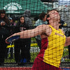 JIM VAIKNORAS/staff photo Newburyport's Scott Childs competes in the discus at the Hernry Sheldon track meet at Triton Saturday.
