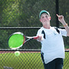 BRYAN EATON/Staff photo. Pentucket first singles Connor Aulson.