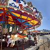 BRYAN EATON/Staff photo. To spark this year's make over at Salisbury Beach Center, the Salisbury Beach Partnership and Fiesta Shows brought in a small carousel that will be on the mall this summer. The popular children's ride will open over the Memorial Day weekend.