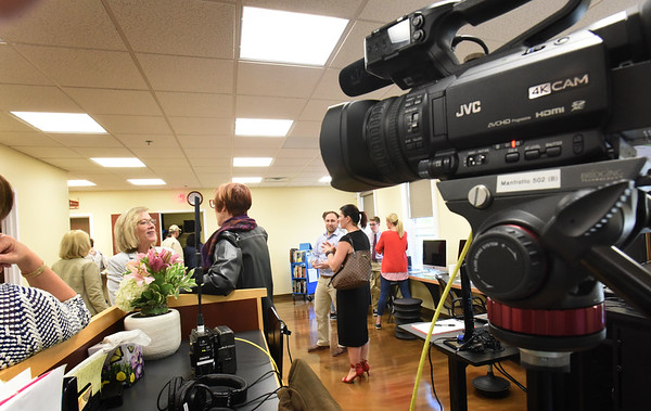 BRYAN EATON/Staff photo. People got to tour the new home of Greater Newburyport Community Media Hub which had been Port Media and located on Hale Street. The new studio is now in the Newburyport Senior Citizen's Center building.