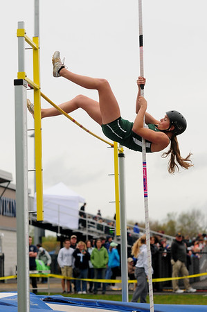 JIM VAIKNORAS/staff photo Pentucket's Sterling Seymore finished second in the pole vault at the Hernry Sheldon track meet at Triton Saturday.