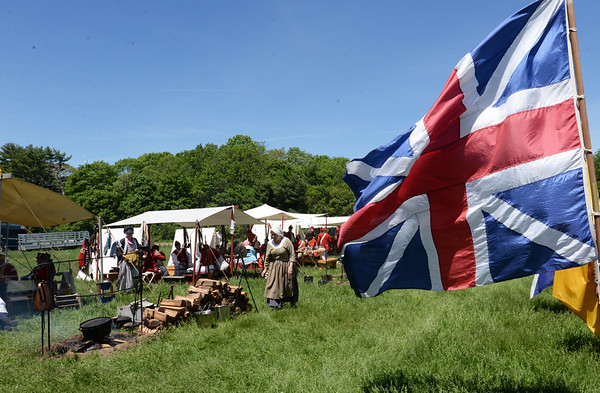 BRYAN EATON/Staff photo. The British encampment in the northeast corner of the Spencer-Peirce-Little Farm.