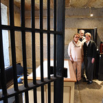 BRYAN EATON/Staff photo. Jillian and Charles Griffin, left, with Stephanie Niketic of the Newburyport Preservation Trust will be opening the old jail, or gaol, which then own as part of a to ...